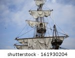 Sails And Mast On Ancient...