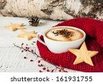 Winter Cappuccino Coffee In A...