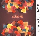 vector banner color love leaf...   Shutterstock .eps vector #161940251