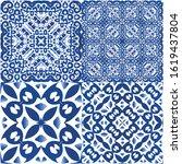 ceramic tiles azulejo portugal. ...   Shutterstock .eps vector #1619437804