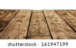 old vintage planked wood table... | Shutterstock . vector #161947199