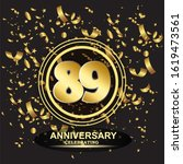 89 anniversary logo with... | Shutterstock .eps vector #1619473561