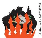 australia black silhoette.... | Shutterstock .eps vector #1619531734