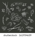 vector background with hand... | Shutterstock .eps vector #161954639