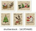 illustration of christmas... | Shutterstock . vector #161954681