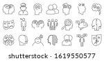 bipolar disorder disease icons... | Shutterstock .eps vector #1619550577