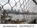 Fence Hole On Manhattan Bridge...