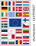 flags of the european union | Shutterstock .eps vector #161955827
