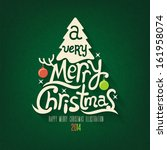 christmas greeting card. merry... | Shutterstock .eps vector #161958074