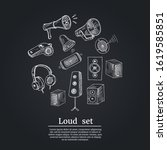 loud set. vector illustration.... | Shutterstock .eps vector #1619585851
