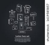 letter box set. vector... | Shutterstock .eps vector #1619585857