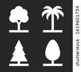different tree silhouette set.... | Shutterstock .eps vector #1619601754