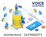 voice control isometric 3d... | Shutterstock .eps vector #1619606371