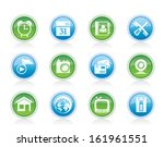mobile phone and computer icons ...   Shutterstock .eps vector #161961551