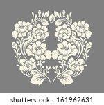 Stock vector vector ornamental decorative elements design rose bouquet 161962631