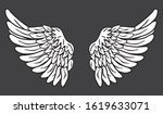 a pair of scattered eagle birds ...   Shutterstock .eps vector #1619633071