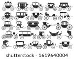 Vintage Carriage Vector Black...