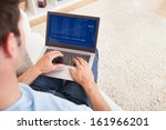 close up of a young man sitting ... | Shutterstock . vector #161966201