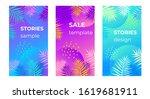 neon gradient background frame...   Shutterstock .eps vector #1619681911