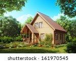 Suburban Wooden House. Cozy...