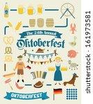 oktoberfest retro creation kit  ...   Shutterstock .eps vector #161973581