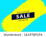 bright sale banner design.... | Shutterstock .eps vector #1619789254