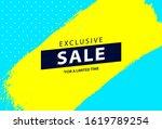 bright sale banner design.... | Shutterstock .eps vector #1619789254