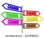 blank arrows directions. change.... | Shutterstock . vector #16198021