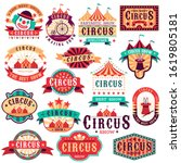 circus labels. vintage carnival ... | Shutterstock . vector #1619805181