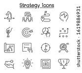 strategy   planing icon set in... | Shutterstock .eps vector #1619886931