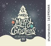 christmas greeting card. merry... | Shutterstock .eps vector #161990444