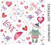 beautiful seamless pattern of... | Shutterstock .eps vector #1619935651