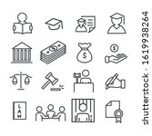 set of law lawyer services icon ...   Shutterstock .eps vector #1619938264