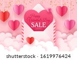 valentines day sale banner... | Shutterstock .eps vector #1619976424