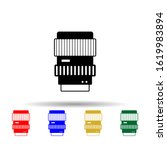 lenses multi color style icon....