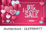 happy valentines day background ... | Shutterstock .eps vector #1619984977