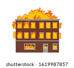 Fire In The House. Vector...
