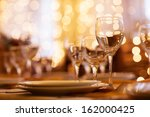 beautifully served table in a... | Shutterstock . vector #162000425