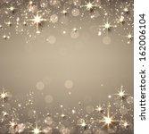 golden christmas abstract... | Shutterstock .eps vector #162006104
