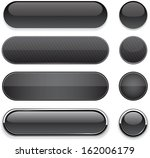 set of blank black buttons for... | Shutterstock .eps vector #162006179