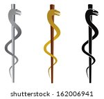 rod of asclepius medical symbol ... | Shutterstock .eps vector #162006941