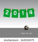 green soccer jerseys on the...   Shutterstock .eps vector #162010475