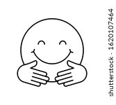hug  emotions icon. simple line ...