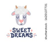 sweet dreams. sheep head and... | Shutterstock .eps vector #1620137731