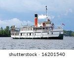 Restored steam ship - stock photo