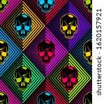 skulls seamless pattern  vector ... | Shutterstock .eps vector #1620157921