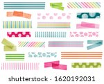collection of watercolor washi... | Shutterstock .eps vector #1620192031