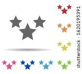three stars in multi color...
