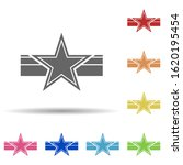 star on the ribbon in multi...