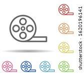 movie film in multi color style ...